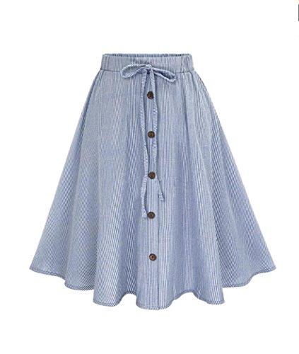 Damen Streifen Spitze Unterkleid Röcke , Hohe Taille Petticoat Kleid 50er Rockabilly | Festliches Damenkleid | Blickdicht Fluffiger Ballettrock | Unterröcke Brautkleid Tüllröcke | (XL, Blau) (Bouffant Unterrock)