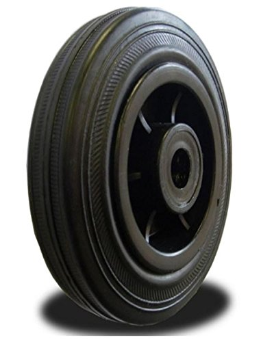 125mm Wheel with Rubber on Nylon Centre 100kg Capacity Test
