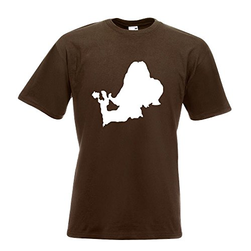KIWISTAR - Chiemsee - Deutschland - See T-Shirt in 15 verschiedenen Farben - Herren Funshirt bedruckt Design Sprüche Spruch Motive Oberteil Baumwolle Print Größe S M L XL XXL Chocolate