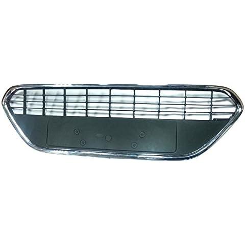 Chrome abkant enfriador Barbacoa inferior rejilla de aire Rejilla para parachoques Ford Focus 2II