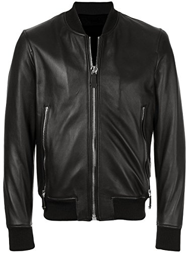 VearFit Caribeen Bomber für Herren Genuine Sheep Plus Size Leather Jacket -