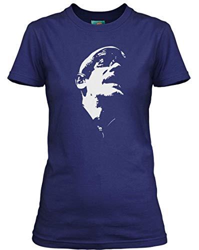 Michael Stipe - REM Inspired, Damen T-Shirt, Medium, Blau (Rem-shirt)