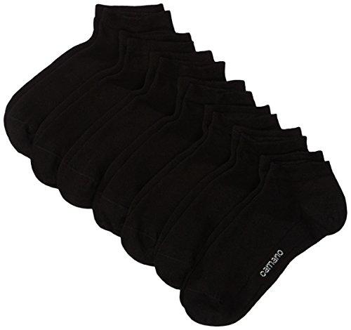 Camano Herren 3003 Ca-Soft Sneaker 7 Paar Sneakersocken, Schwarz (black 05), Herstellergröße: 39/42 (erPack 7)