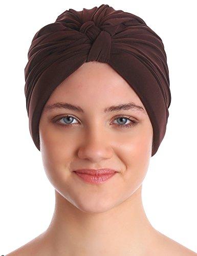 Deresina Headwear W-Stil Pilssiert Turban für Haarverlust (Braun)