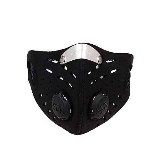 PiPisun Máscara Fresca Deportes al Aire Libre Media Cara máscara de carbón Activado Montar...