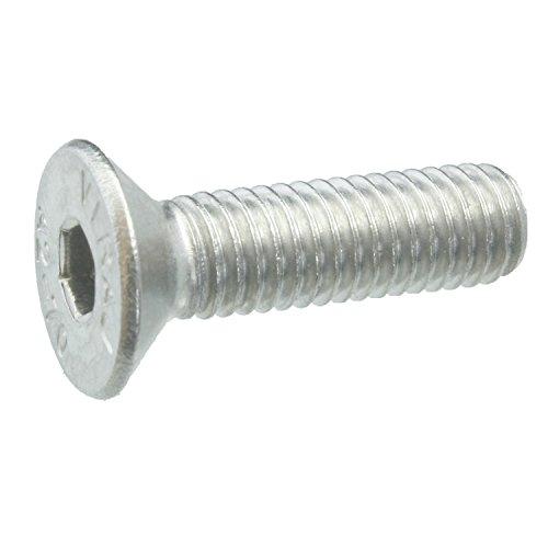 25 Senkkopfschrauben Edelstahl M5 x 18 mm – ISO 10642 / DIN 7991 – Senkschrauben mit Innensechskant und Vollgewinde – Werkstoff A2 (VA / V2A)