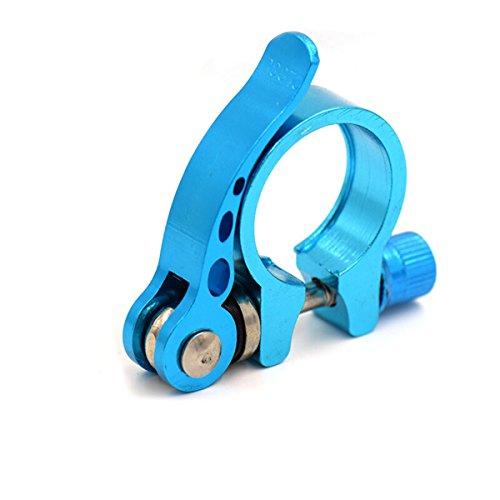 WINOMO 34.9mm Aluminiumlegierung, die Fahrrad-Fahrrad-schnelle Freigabe-Sattelstütze-Klemme (blau) - Blau Sattelstütze Klemme