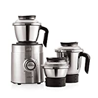 Cello Grind-N-Mix Beta 1000w Steel Mixer Grinder (Black and Silver)