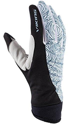 viking Handschuhe Damen mit Touch Phone Funktion - schnell trocknend und atmungsaktiv - ideal für Langlauf, Radsport, Wandern - Rukka, 09 schw/blau, 5