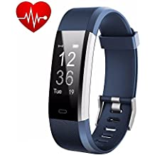 Pulsera Actividad, Showyoo Reloj Inteligente con Monitor de Ritmo Cardíaco, GPS para Corer Podómetro IP67 Impermeable Reloj de Actividad Smartwatch Monitor de Sueño Pulsera de Contador de Pasos Reloj de Fitness con Contador de Calorías para Android Smartphones y iPhone, Azul
