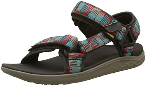 Teva m terra-float 2 universal, sandali a punta aperta uomo, multicolore (nica black olive multi), 42 eu