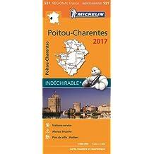 Carte Poitou-Charentes Michelin 2017