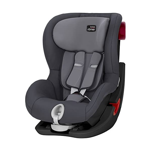 Britax Römer car seat 9-18 kg, KING II BLACK SERIES, group 1, Storm Grey Britax Römer Easy installation - with tilting seat and patented seat belt tensioning system Optimum protection - performance chest pads, deep, padded side wings 1