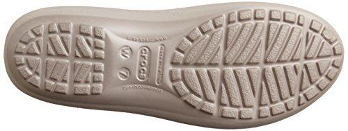 crocs Mammoth Leopard Lined Flat Women Damen Ballerinas Grau (Platinum/Platinum)