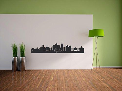 Pixxprint Skyline Erfurt Wandtattoo Format: 1200x280 mm_d Wandbild, Wandaufkleber, Wandsticker Dekoration für Wohnzimmer, Schlafzimmer und Kinderzimmer
