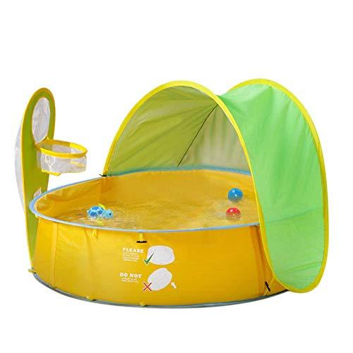 Instant-canopy Zelt (QUUY Pop-Up-Baby-Strandzelt Mit Pool, Tragbarer UV-Schutz Sonnenschutz Kinder Bällebad Spielen Indoor Outdoor-Planschbecken Beach Canopy Zelt Für Babys Kinder)