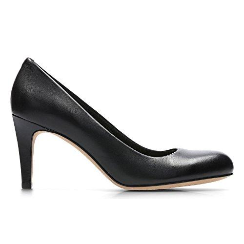 Clarks Women's Stiletto Heel Court Shoes Carlita Cove Black Leather