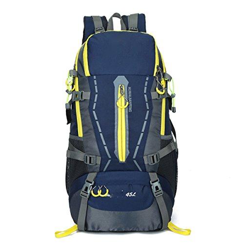 Rucksack Rucksack Wandern Outdoor Bergsteigen Reisen Casual Daypack Hochleistungs-Taschen,Black DarkBlue