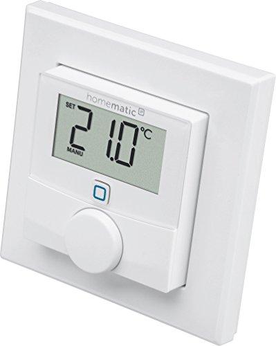 Preisvergleich Produktbild Homematic IP Wandthermostat & Luftfeuchtigkeitssensor140667, Schutzart IP20, Versorgungsspannung 2x 1,5 V LR03/Micro/AAA