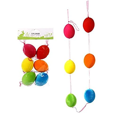 La decoración de Pascua - guirnalda decorativa del huevo de Pascua (varios coloures)