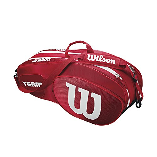 Wilson Damen/Herren Tennis-Tasche, für Profispieler, Team III 6 PK, Einheitsgröße, Rot/Weiß, WRZ857806