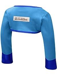 ScratchSleeves Boléro avec moufles anti-grattement sans pouce pour bébé Crème/bleu