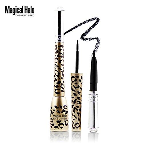 Eyeliner, HARRYSTORE 1PC Mode Damen Wasserdichte Leopard gedruckte Shell Black Liquid Eye Liner Eyeliner Pen für Frauen (Kit Leopard Zubehör Schöne)