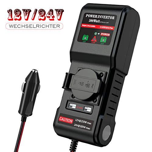 12V 24V auf 230V Universal 300W Wechselrichter KFZ Spannungswandler Autokonverter Inverter Auto Adapter/Auto wechselrichter,Inverter,inkl. Kfz Zigarettenanzünder Stecker