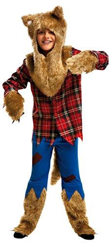Imagen de my other me  disfraz de hombre lobo, para niños de 5 6 años viving costumes mom00117