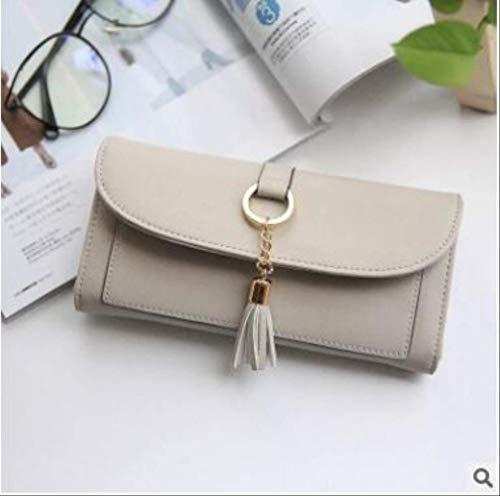 Detail Zip Wallet (ESFSAF walletWomen Quaste Anhänger Short Money Wallets Pu-Leder Lady Zipper Haspe Münzfach Geldbörsen Kartenhalter Handtasche Geldbörselang grau)