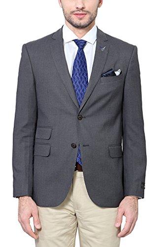 Van Heusen Men's Slim Fit Blazer (8907271746106_VHBZ515M04623_50_Medium Grey Solid)  available at amazon for Rs.3499