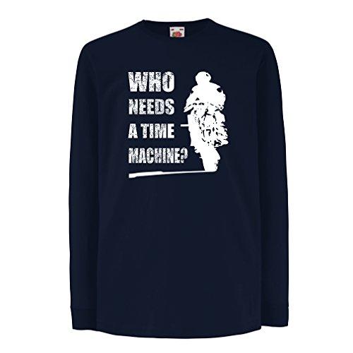lepni.me Bambini t-Shirt con Maniche Lunghe Abbigliamento Moto (12-13 Years Azzulo