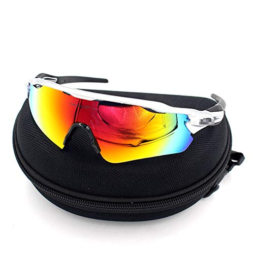 M.J.ZUR Polarisierte Sport-Sonnenbrillen-Schutzbrillen Motorrad-Schutzbrillen Lenes für Männer Frauen Radfahren Fahren (Color : 1, Size : One Size)