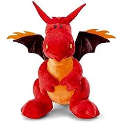 NICI - Dragón de fuego sentado, 30 cm, color rojo (40774)