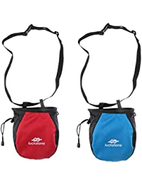 Phenovo 2pcs Chalk Bag Storage Pouch For Rock Climbing Gym W/ Drawstring Waist Belt
