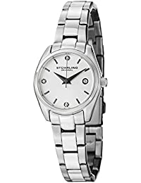Stuhrling Original Women's Ascot Prime Women's Quartz Watch with Silver Dial Analogue Display and Silver Stainless Steel Bracelet 414L.01