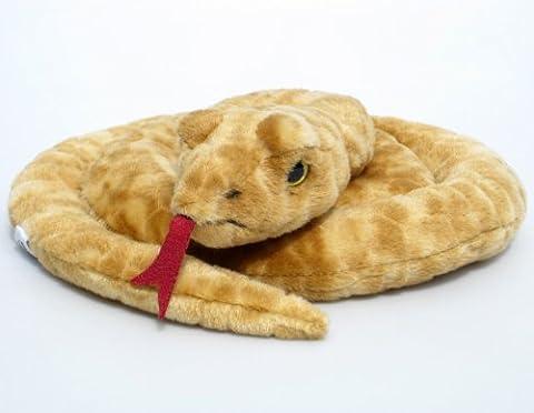 Plüschtier Schlange - gelb - 90 cm