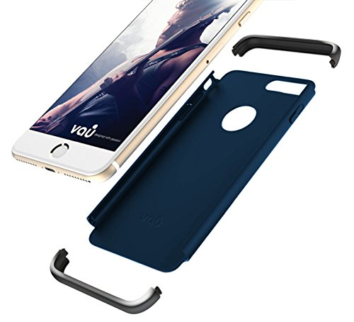 vau Savage Hülle Schutzhülle für Apple iPhone 7 und iPhone 8 ( Case blau & space gray ) Marine Blue