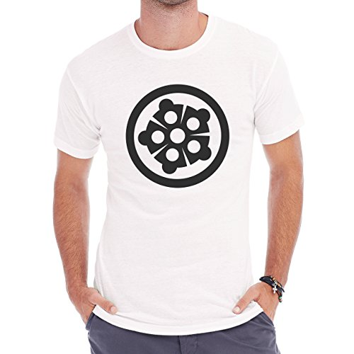 Teenage Mutant Ninja Turtle Symbol BW Herren T-Shirt Weiß