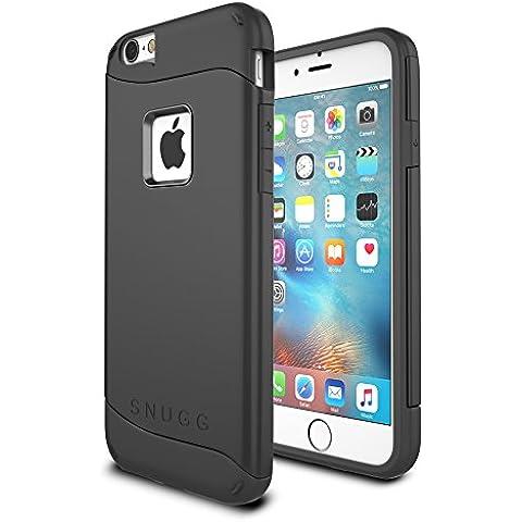 Funda iPhone 6 / 6s, Snugg Apple iPhone 6 / 6s Case Slim Carcasa de Doble Capa [Infinity Series] Revestimiento con Protección Anti-Golpes – Negro