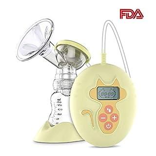 Elektrische Milchpumpe, AnGeer Einzel Elektrische Milchpumpe Brustpumpe, Natürliche Komfort einstellbare Milchpumpe