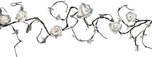 Best Season LED-Girlande Rossy Garland mit 16 daylight LED, mit Trafo circa 2,3 m, weiße Rosen 581-23