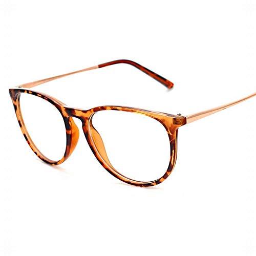 WULE-RYP Polarisierte Sonnenbrille mit UV-Schutz Männer und Frauen Arbeiten großen schwarzen runden Leopard-Muster-Myopie-Rahmen-flachen Spiegel um. Superleichtes Rahmen-Fischen, das Golf fährt