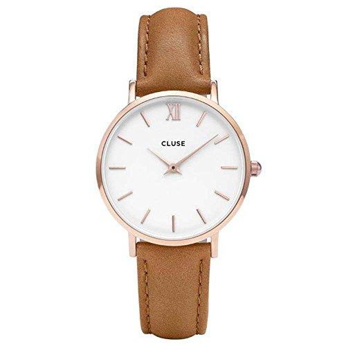 Cluse Damen-Armbanduhr Analog Quarz Leder CL30021