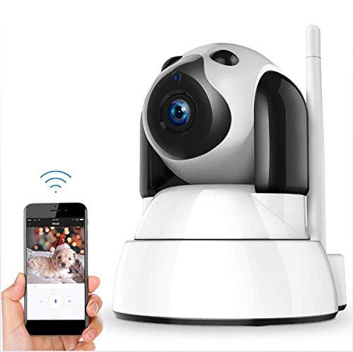 WiFi-Kamera, Hundekamera 720P mit Audio, Sicherheits-Babyüberwachungskamera mit IR-Nachtsichtkamera mit bidirektionaler sprechender Bewegungserkennung (Sicherheits-kamera-bluetooth)