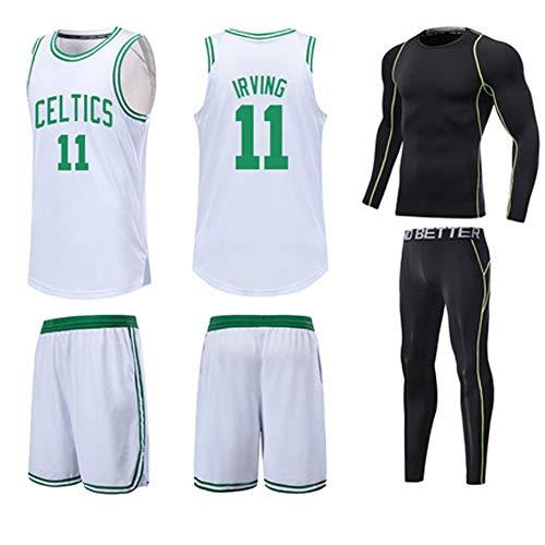 Kyrie Irving # 11 Boston Celtics Basketballtrikot XS-XXXL, 90er Jahre Kleidung Kostüm Sportbekleidung Bekleidung - Kurzarm Offiziell Lizenziertes (Frauen Basketball Spieler Kostüm)