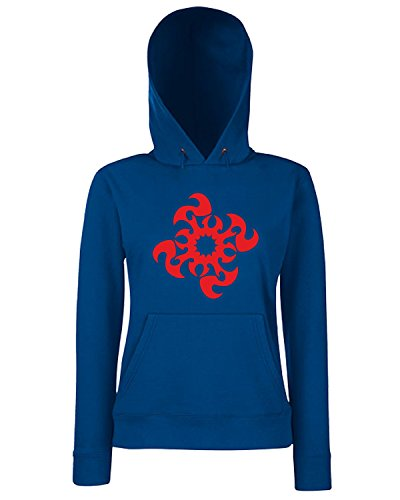 T-Shirtshock - Sweats a capuche Femme FUN0465 2302 tribal sticker design 34 70070 Bleu Navy