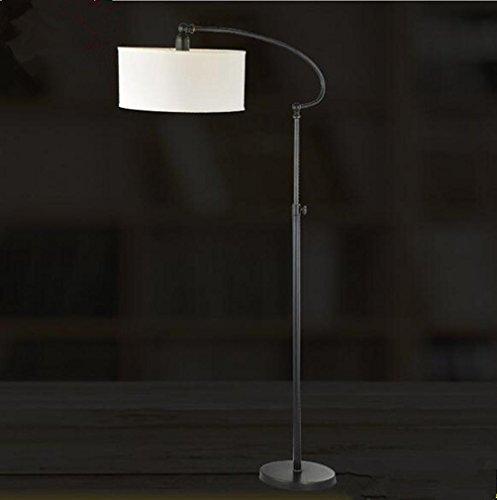 Moderne kreative Metalltuch verstellbare LED Stehleuchte Wohnzimmer Schlafzimmer Büro-Studio-Villa Hotel Gallery Leselampe , Black