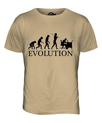CandyMix Calligrafia Evoluzione Umana T-Shirt da Uomo Maglietta Caramello