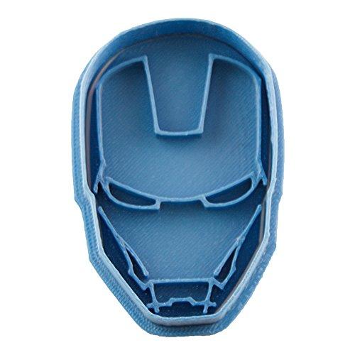 Cuticuter Superhelden Iron Man Ausstechform, Blau, 8x 7x 1.5cm